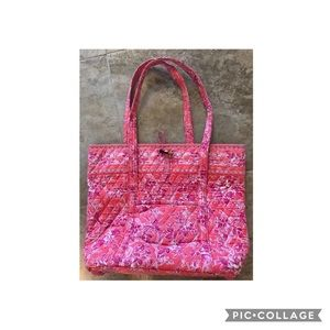 Vera Bradley Miller Tote Hope Toile Pink w/ toggle